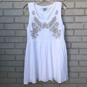 NWOT LuLu's White Dress - Women's Large